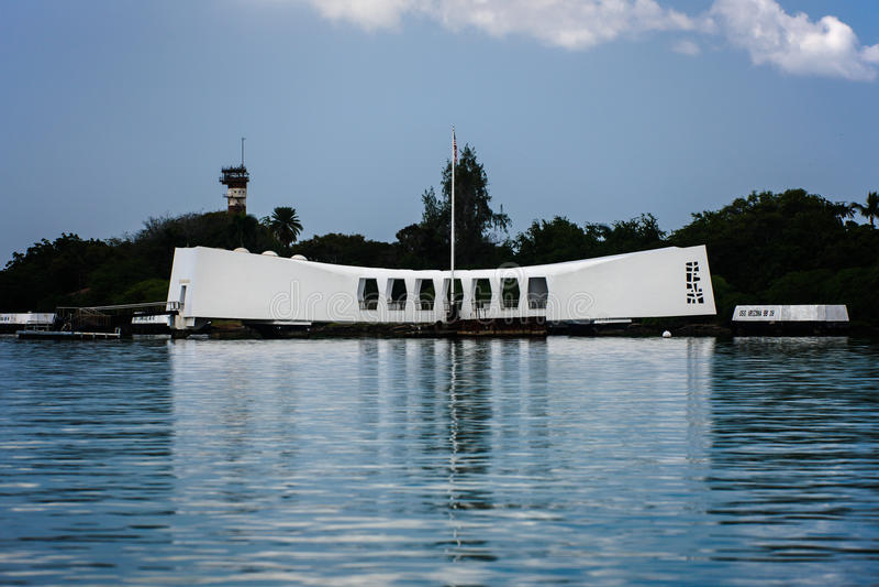 U.S.S. 亚利桑那纪念品,珍珠港,夏威夷 库存图片