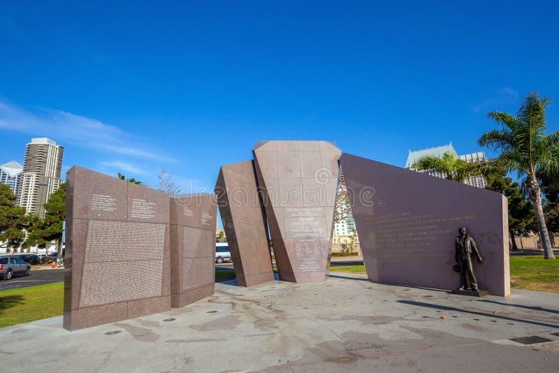 U S S San Diego (CL-53) pomnik zdjęcia royalty free
