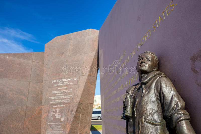U S S San Diego (CL-53) pomnik obrazy royalty free