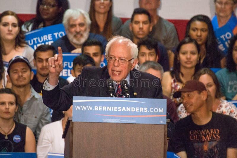 U S Sanders της Bernie φέρελπις πρόεδρος συνάθροιση στοκ εικόνες