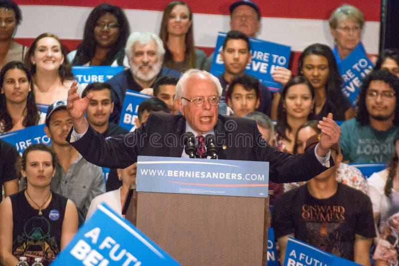 U S Sanders της Bernie φέρελπις πρόεδρος συνάθροιση στοκ φωτογραφία με δικαίωμα ελεύθερης χρήσης
