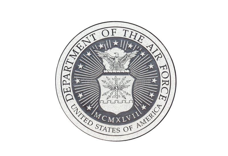 U S Sello del funcionario de la fuerza aérea stock de ilustración