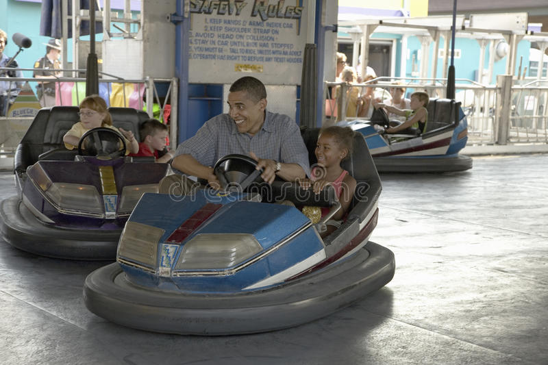 Download U.S. Senator Barak Obama Driving Bumper Car Editorial Stock Photo - Image: 27067678