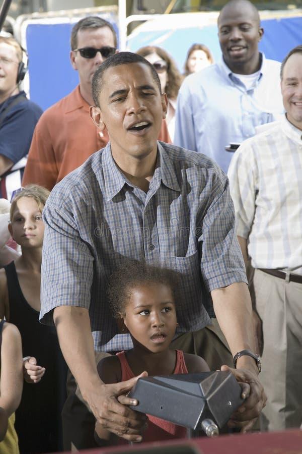 Download U.S. Senator Barak Obama With His Daughter Editorial Stock Image - Image: 27067659