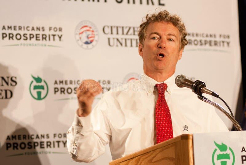 U.S. Senator Rand Paul, r-Kentucky, spreekt in Manchester, New Hampshire stock foto's