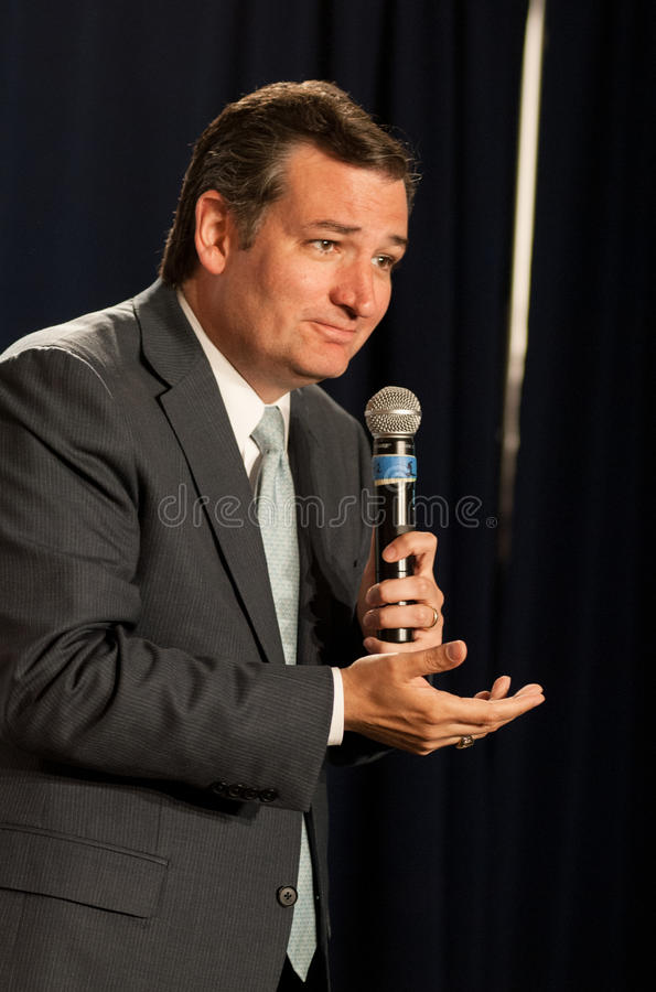 U.S. Senator Ted Cruz, R-Texas, speaks in Manchester, New Hampshire royalty free stock photography