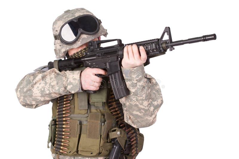 U S Soldado de infantería del ejército imagen de archivo
