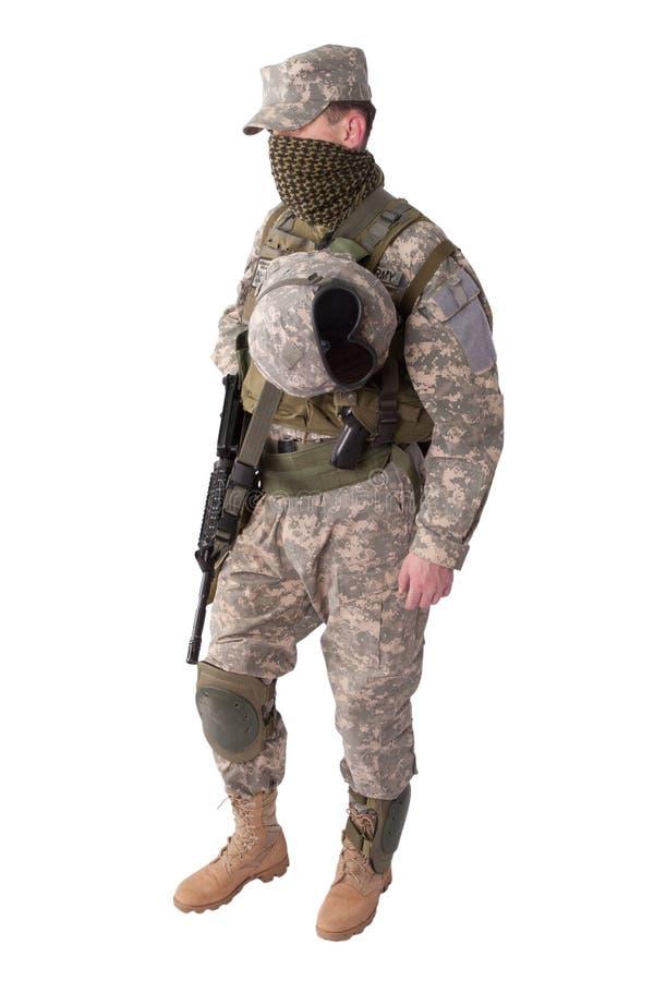 U S Soldado de infantería del ejército fotos de archivo libres de regalías