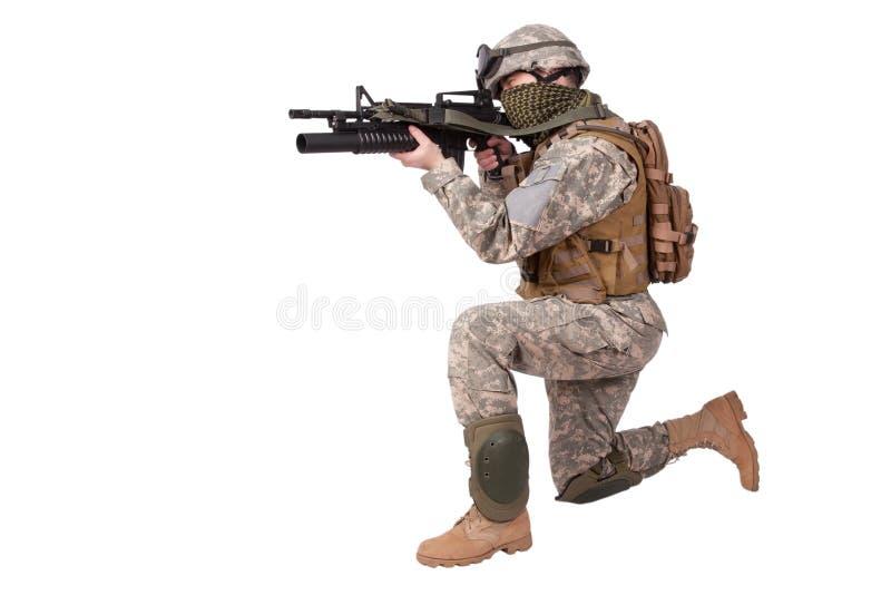 U S Soldado de infantería del ejército fotografía de archivo
