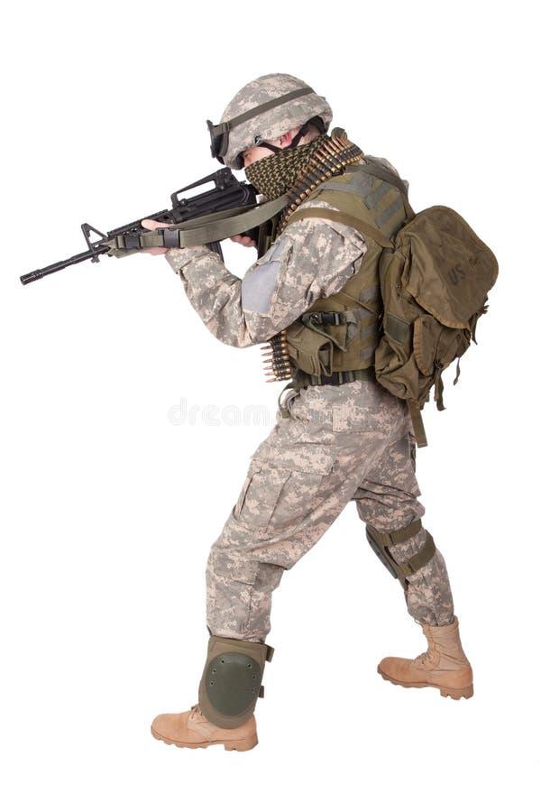 U S Soldado de infantería del ejército foto de archivo