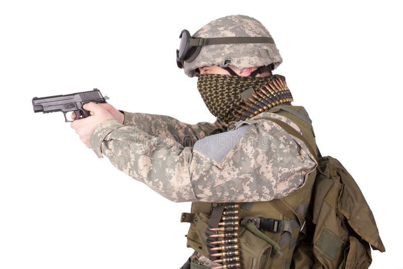 U.S. Soldado de infantería del ejército fotografía de archivo