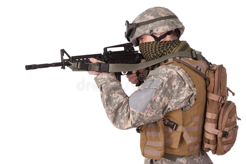 U.S. Soldado de infantería del ejército fotos de archivo