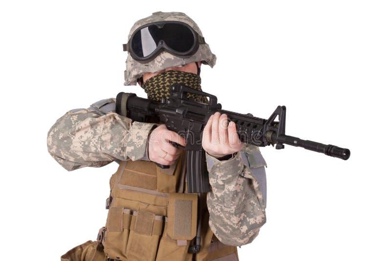 U.S. Soldado de infantería del ejército imagen de archivo