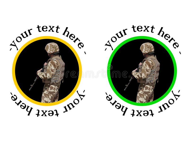 Download U.S Soldier Badge Or Sticker Stock Illustration - Illustration of icons, abstract: 26784082