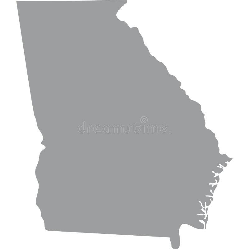 U S Staat van Georgië stock illustratie