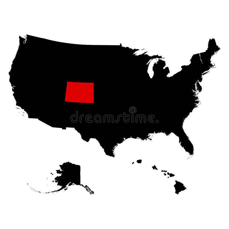 US State Of Colorado On The Map Stock Vector Illustration of