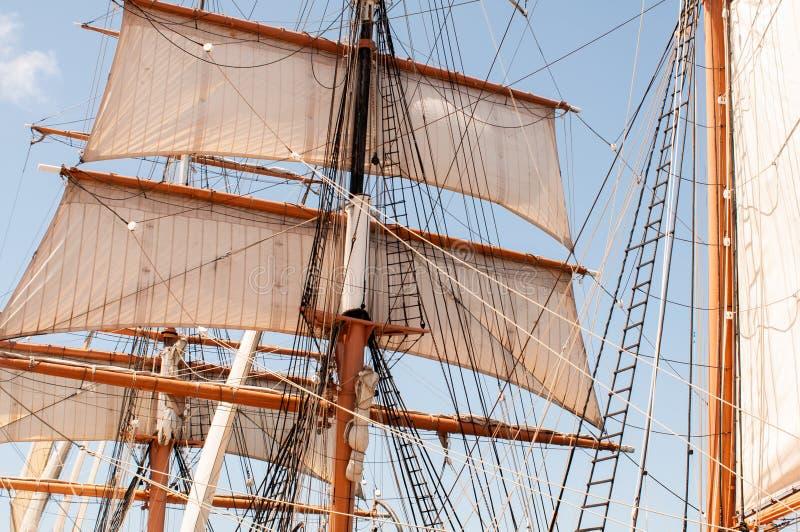 U.S.A., Stati Uniti, America, California, San Diego City, museo marittimo, barca a vela, immagine stock libera da diritti