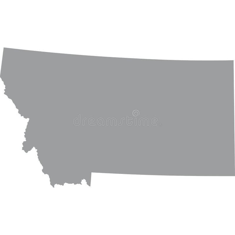 U S Stato del Montana illustrazione vettoriale