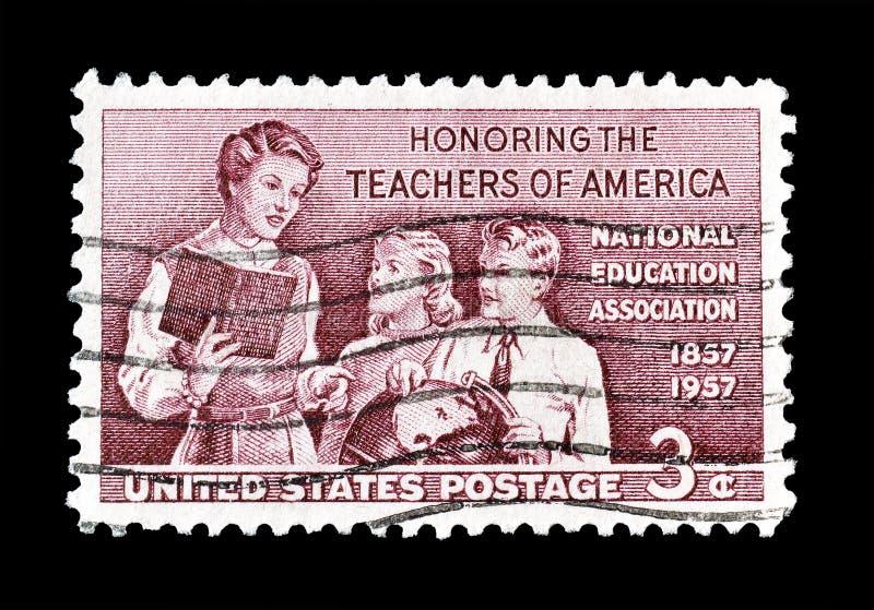 U.S.A. sul francobollo fotografia stock