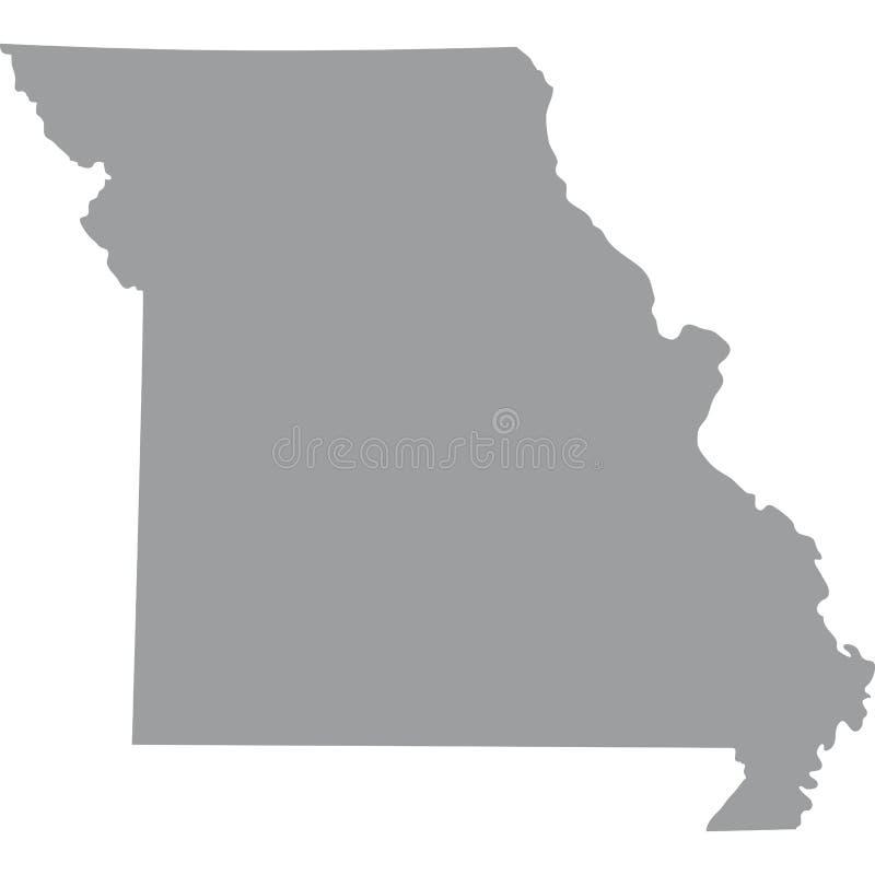 U S tillstånd av den Missouri vektorn vektor illustrationer