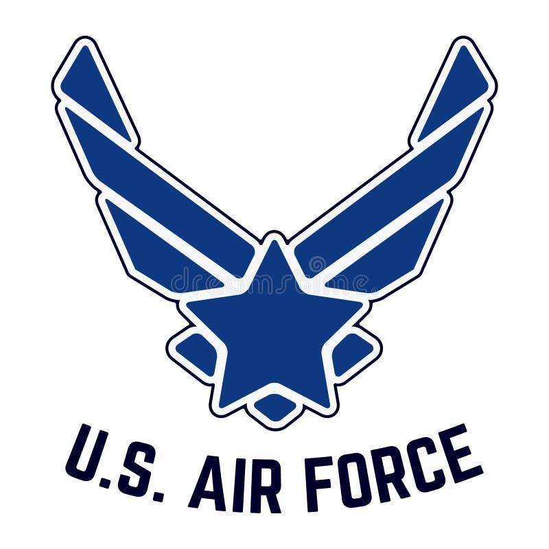 U S Timbre de T-shirt de vintage de l'Armée de l'Air illustration stock