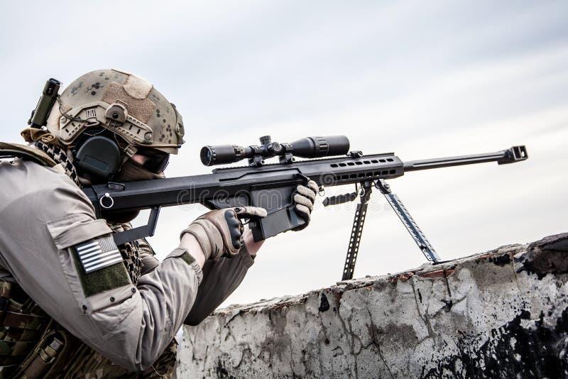 U S Tiratore franco dell'esercito fotografia stock libera da diritti