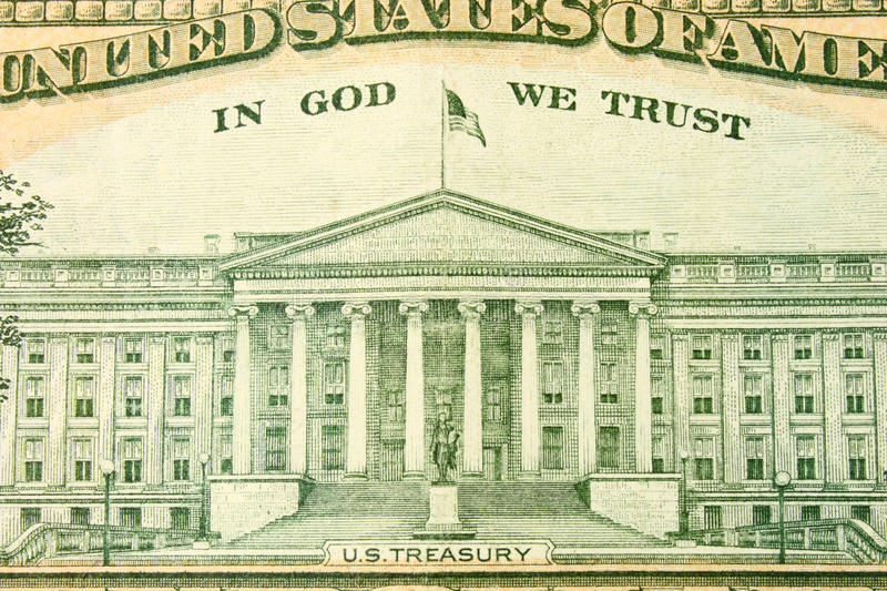 U.S. Treasury Royalty Free Stock Photo