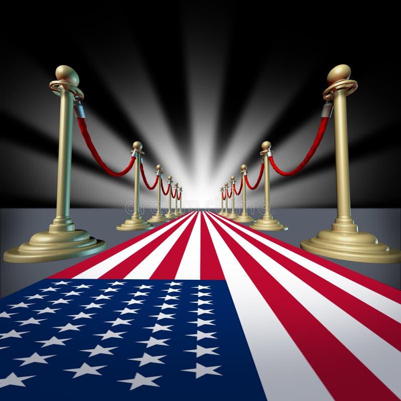 U.S.A. Voto americano da eleição do festival da estrela de cinema ilustração do vetor