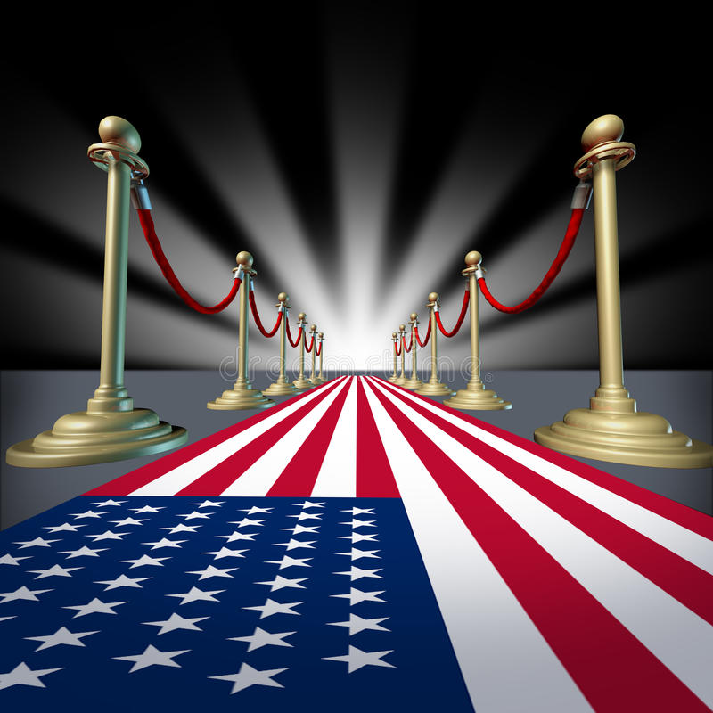 U.S.A. Voto americano di elezione di festival della star di cinema illustrazione vettoriale
