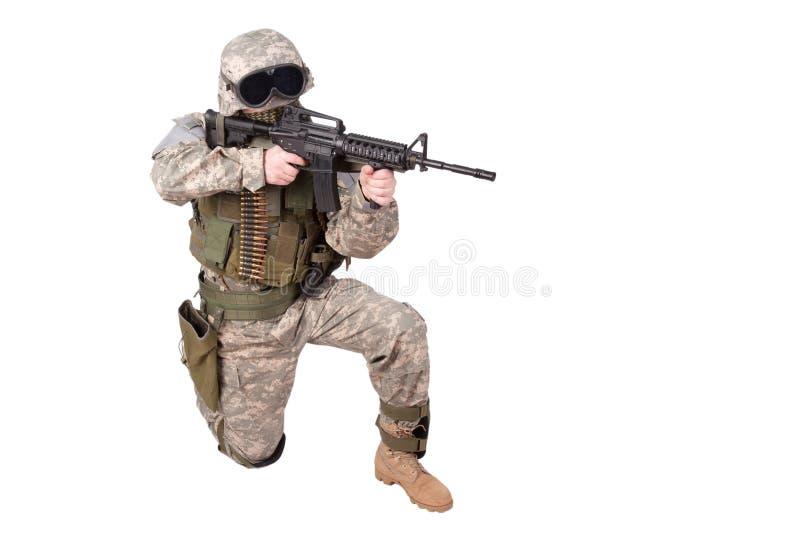 U S Wojska Infantryman obrazy royalty free