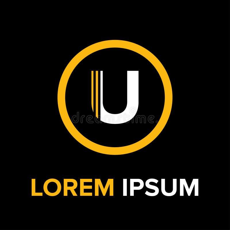 U segna il logo con lettere per l'affare immagini stock libere da diritti