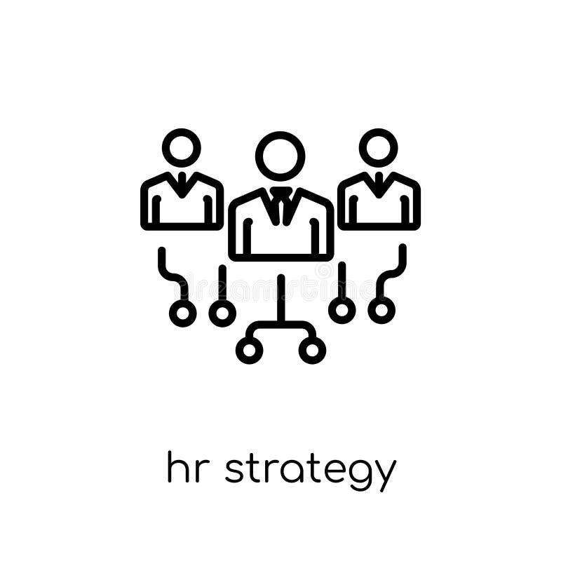 u-strategiepictogram In moderne vlakke lineaire vectoru-strategie i vector illustratie
