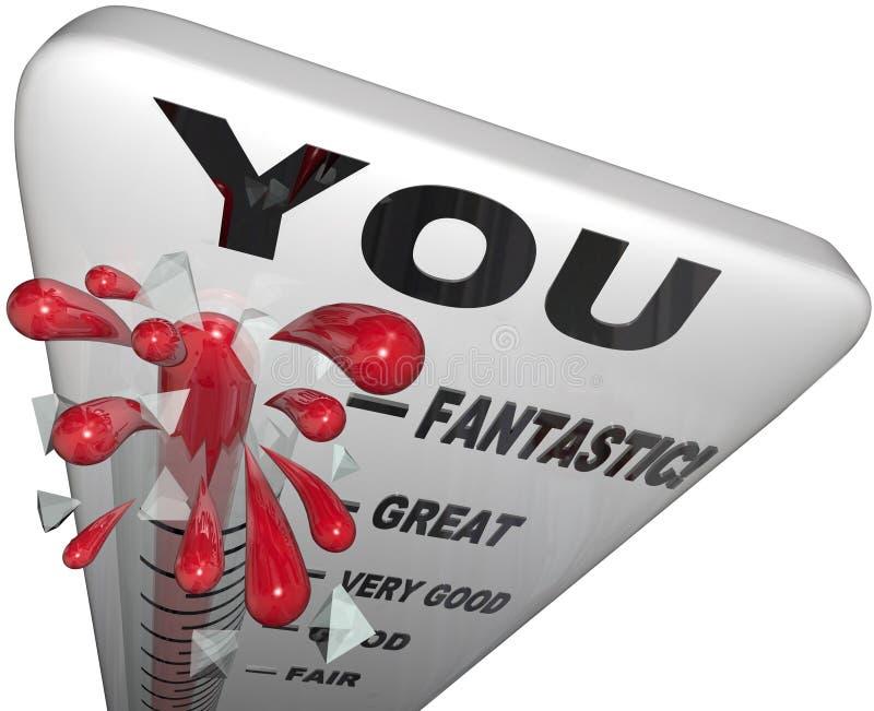 U Thermometer Uw Beoordeling van de Terugkoppelingsevaluatie royalty-vrije illustratie