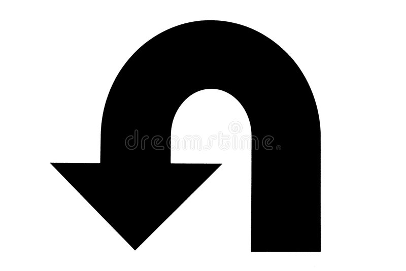 Download U turn stock illustration. Illustration of changing, deviate - 5185404