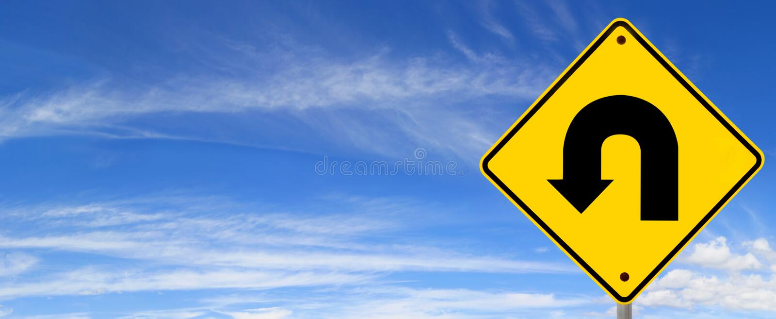 Download U Turn Sign stock photo. Image of street, road, time - 14856386
