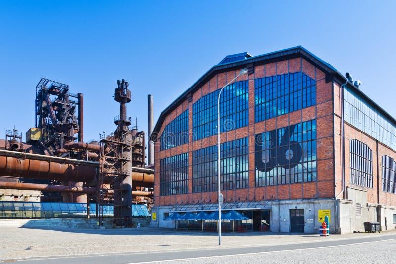 U6 Wetenschap en Technologiecentrum, Lager Vitkovice-gebieds nationaal cultureel oriëntatiepunt, de stad van Ostrava, Noord-Morav royalty-vrije stock afbeelding