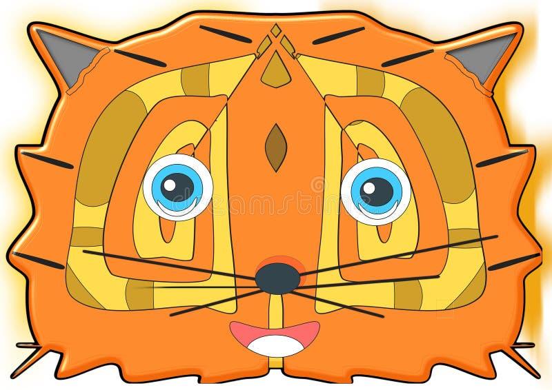 U wilt de tijger me, de tijger eten om mijn smakelijk vlees te eten royalty-vrije illustratie