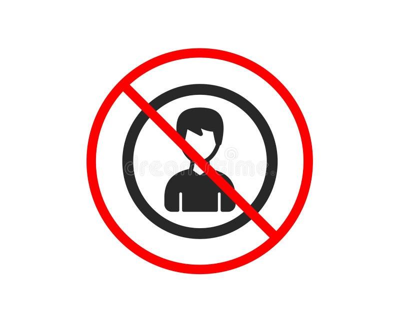 U?ytkownik ikona Samiec profilu znak wektor ilustracji