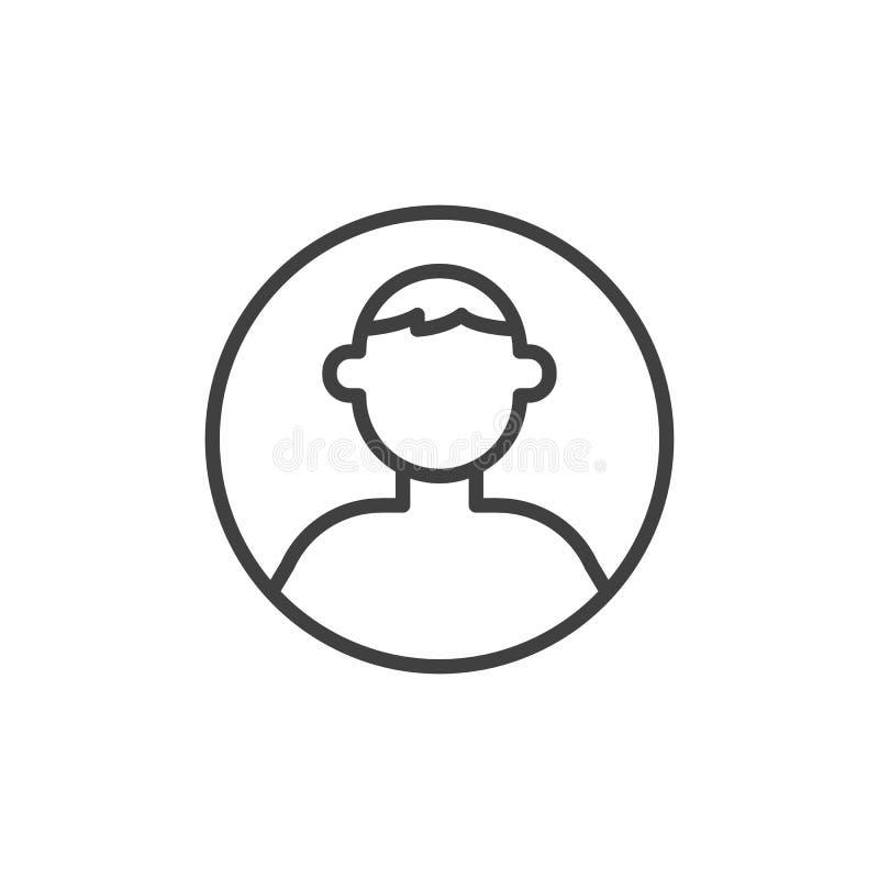 U?ytkownika profilu linii ikona ilustracja wektor