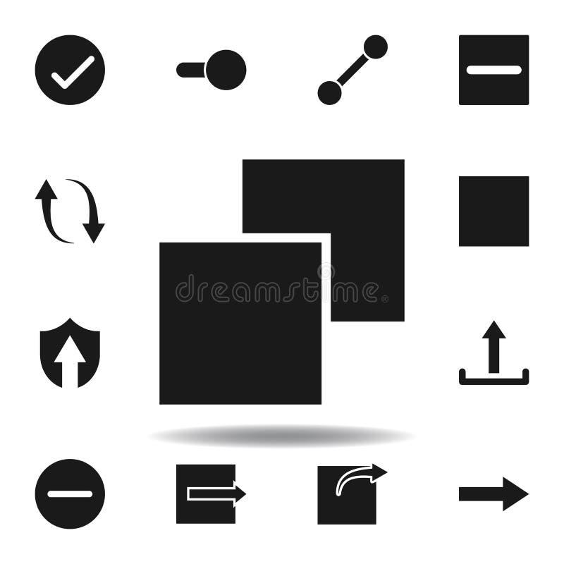 u?ytkownika uk?adu warstwy ikona set sieci ilustracji ikony znaki, symbole mogą używać dla sieci, logo, mobilny app, UI, UX royalty ilustracja