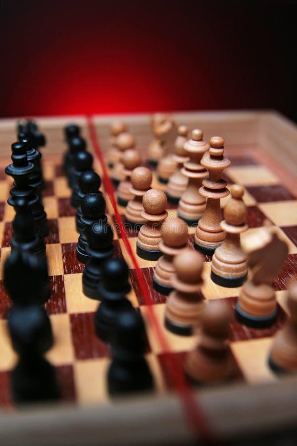 U ziet niet alleen schaak onder ogen stock fotografie