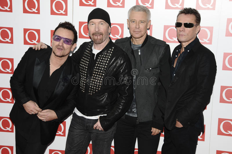 U2,. U2 arriving for the Q magazine Awards 2001 at the Grosvenor House Hotel, London. 24/10/2011 Picture by: Steve Vas / Featureflash