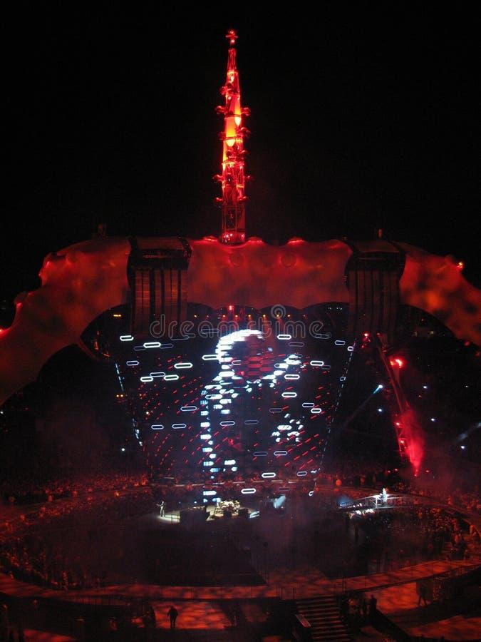 U2 Concert royalty free stock photography