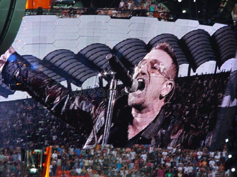 U2 concert in Milan royalty free stock photo