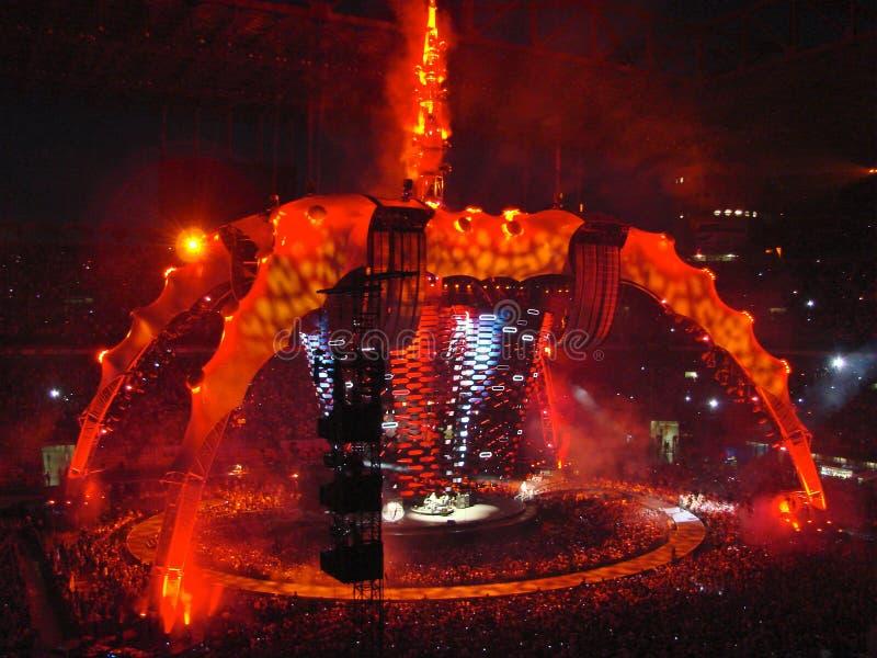 U2 concert in Milan stock photo