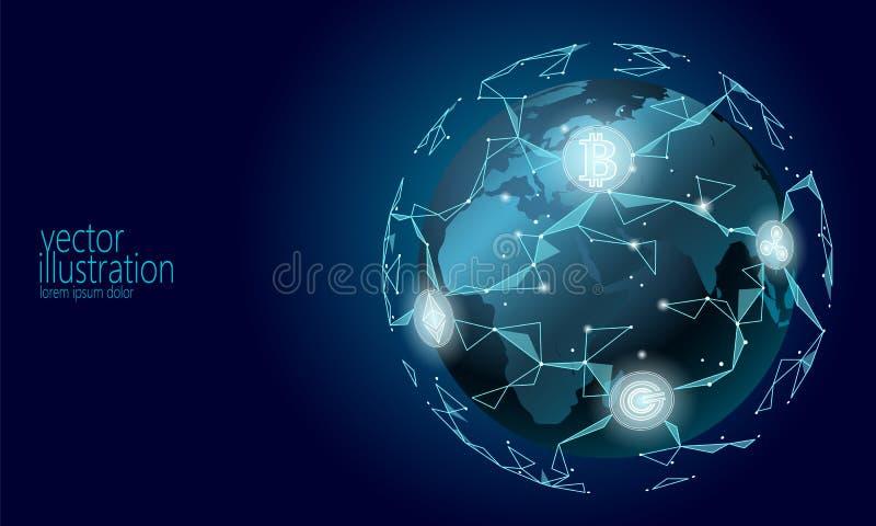 全球性国际blockchain cryptocurrency 低行星空间多现代未来技术财务