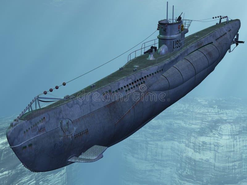 U99-Duits Onderzeeër vector illustratie