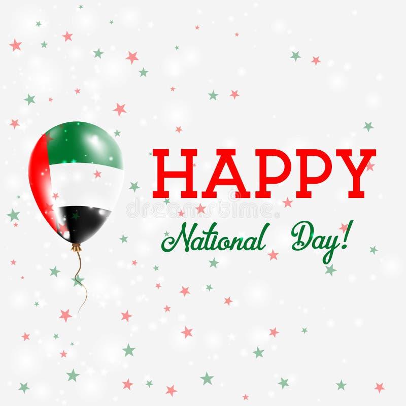UAE święta państwowego patriotyczny plakat ilustracja wektor