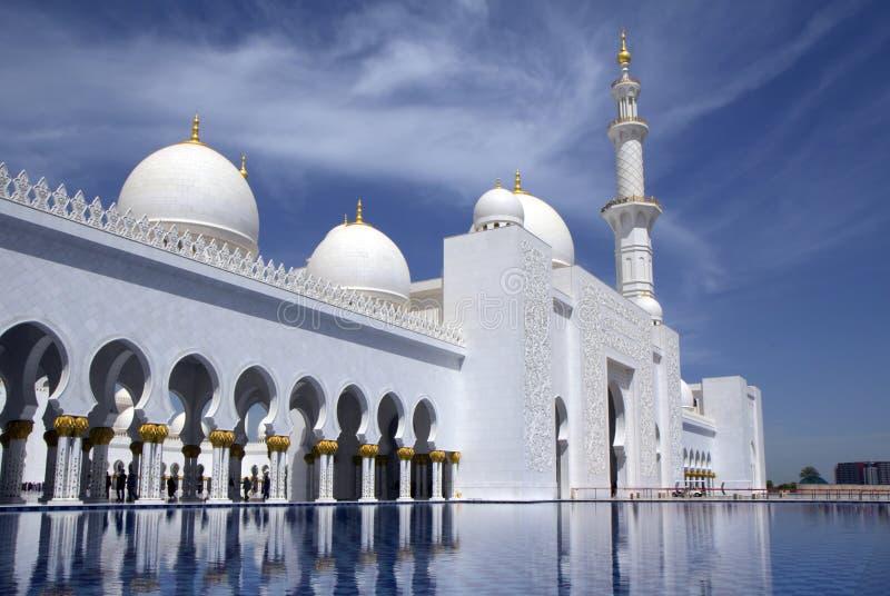 UAE, Abu-Dhabi, the White mosque. royalty free stock images