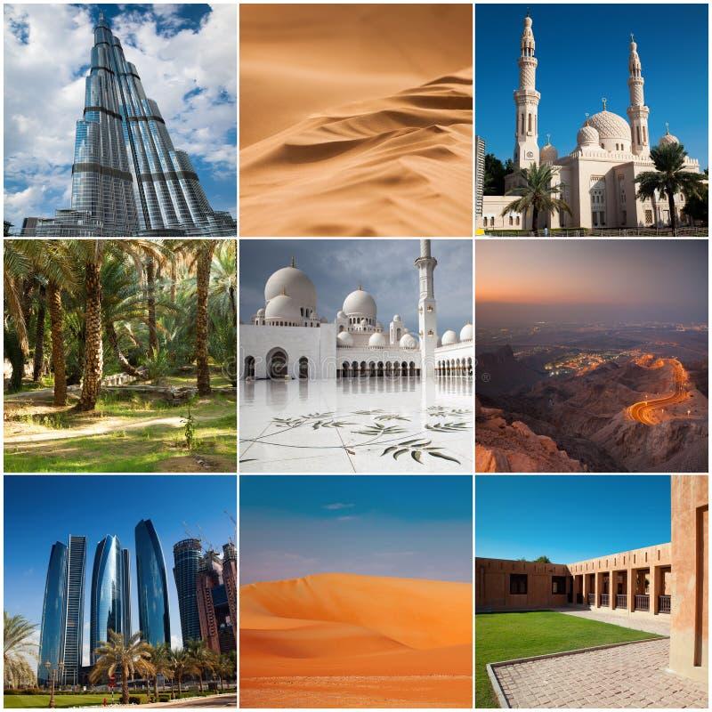 Download UAE Collage United Arab Emirates Stock Image